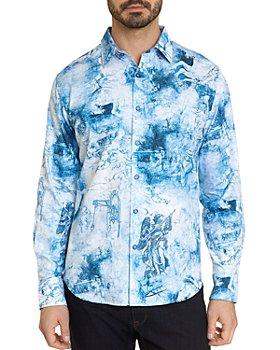 Robert Graham - To The Death Cotton Renaissance Graphic Print Classic Fit Button Up Shirt