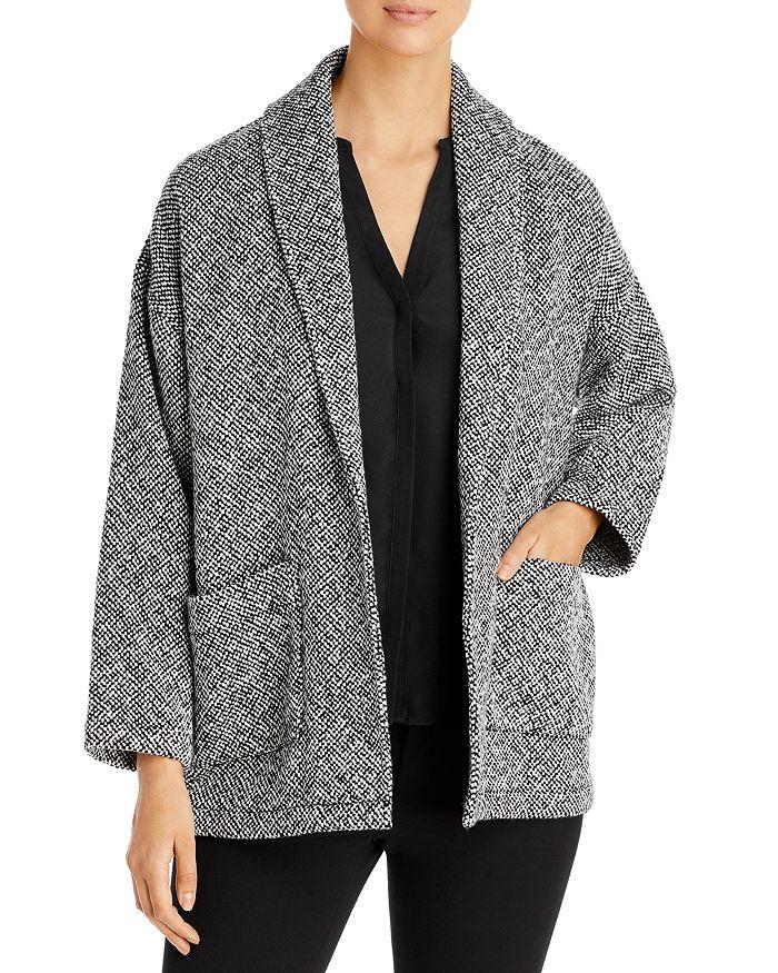 Eileen Fisher - Shawl Collar Tweed Coat