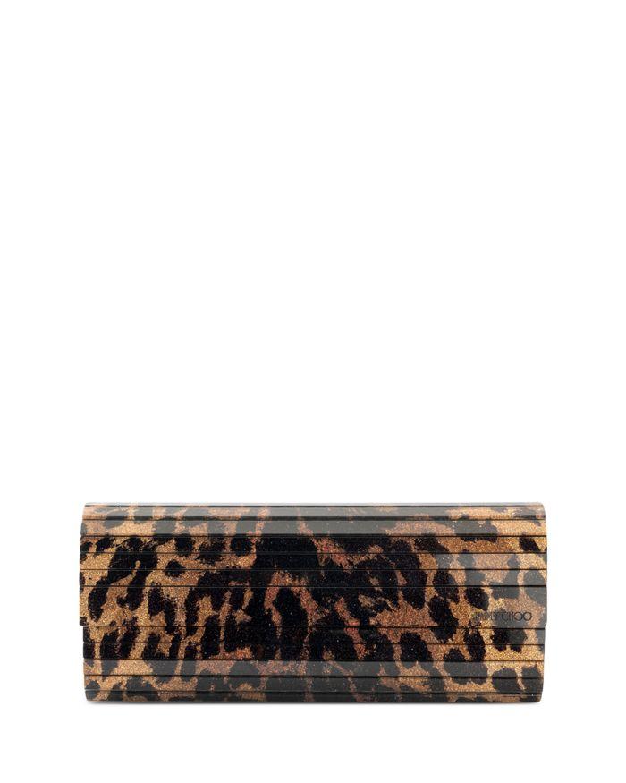 Jimmy Choo Sweetie Medium Animal Print Clutch    Bloomingdale's