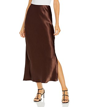 Vince - Satin Side Slit Slip Maxi Skirt