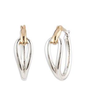 Ralph Lauren - Two-Tone Loop Hoop Earrings