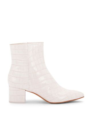 Women's White Ankle Boots [Trendy
