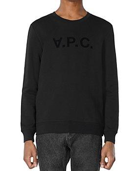 A.P.C. - Flocked Velvet Logo Sweatshirt