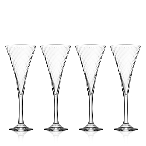 Orrefors Helena Champagne Glasses Set of 4