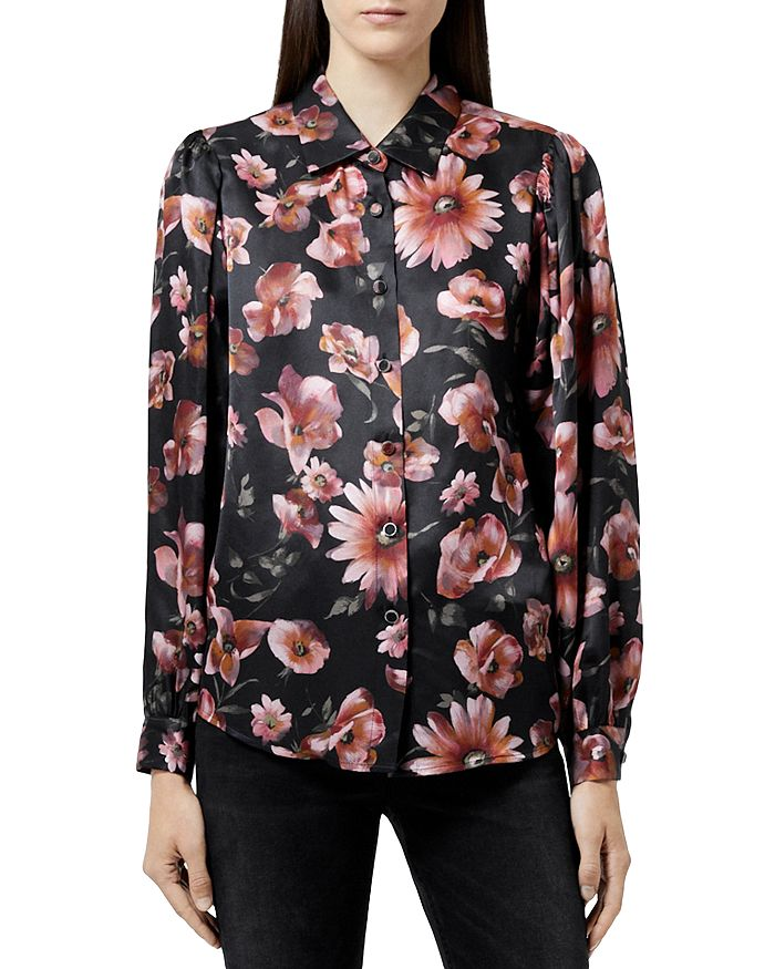 The Kooples FLORAL PRINT BLOUSE