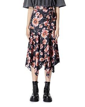 The Kooples - Floral Print Wrap Skirt