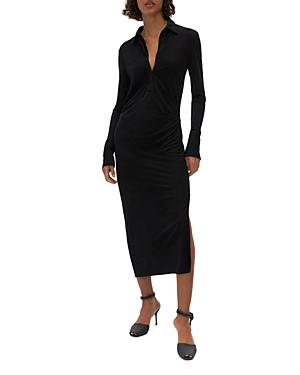 Helmut Lang Side Slit Shirt Dress