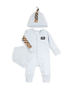 Burberry - Boys' Vintage Check Footie, Hat & Bib Gift Set - Baby