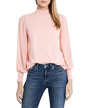 CeCe Clip Dot Sleeve Sweater-Women