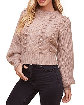 ASTR the Label - Tina Cropped Cable Knit Sweater