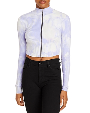 Cotton Citizen Ibiza Zip-Front Cropped Top