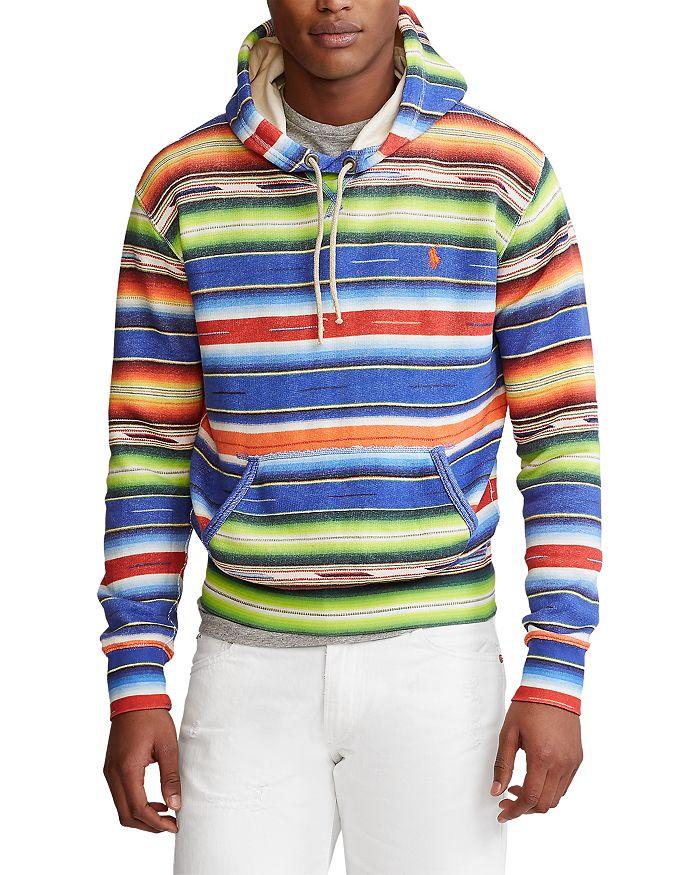 Polo Ralph Lauren - Cotton Blend Serape Print Fleece Hoodie