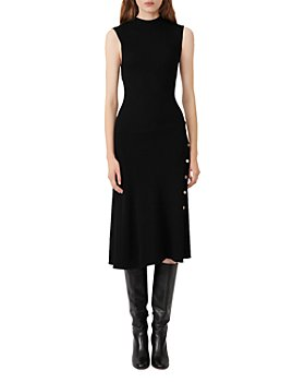 Maje - Roxie Ribbed Midi Dress