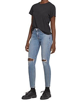 AGOLDE - Sophie Ripped Skinny Jeans in Coastal