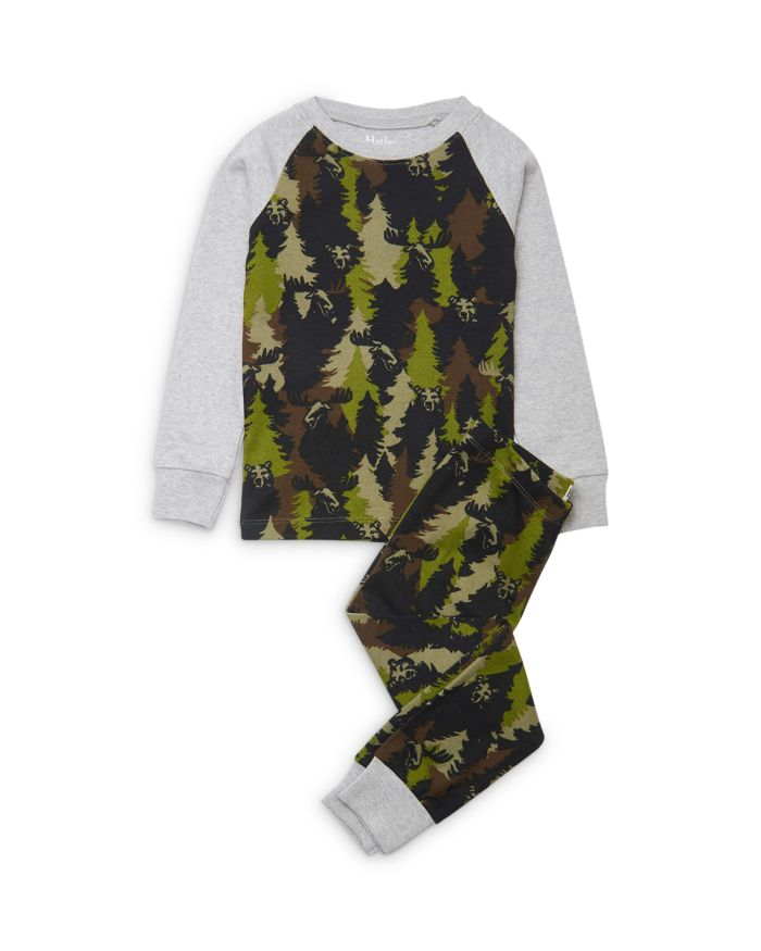 Hatley Boys' Forest Camo Cotton Pajamas - Little Kid, Big Kid    Bloomingdale's