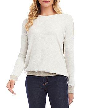 Karen Kane - Color Blocked Ribbed Sweater