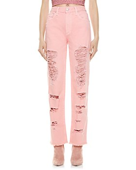 Alice and Olivia - Genevive Ripped Jeans in Rose