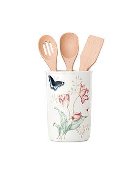 Lenox - Butterfly 4 Piece Meadow Utensil Jar with 3 Kitchen Utensils