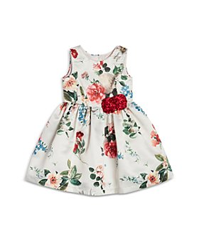 Pippa & Julie - Girls' Floral Print Satin Dress - Little Kid