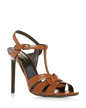 SAINT LAURENT WOMEN'S TRIBUTE T STRAP HIGH HEEL SANDALS
