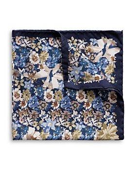 Eton - Silk Blue Floral Pocket Square