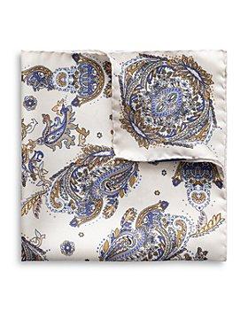 Eton - Silk Paisley Pocket Square