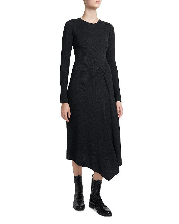 Theory - Midi Rib Tuck Sweater Rib Knit Dress