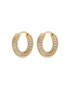 Luv Aj - Amalfi Pavé Huggie Hoop Earrings