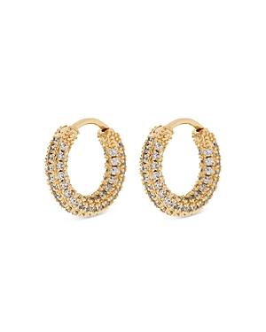 Amalfi Pave Huggie Hoop Earrings