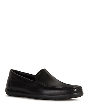Geox Men\\\' Devan Leather Slip-On Shoes
