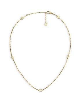 """Gucci - 18K Yellow Gold Interlocking G Link Statement Necklace, 16.5"""""""