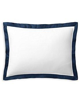 """Ralph Lauren - RL Organic Sateen Border Decorative Pillow, 16""""W x 12""""L"""