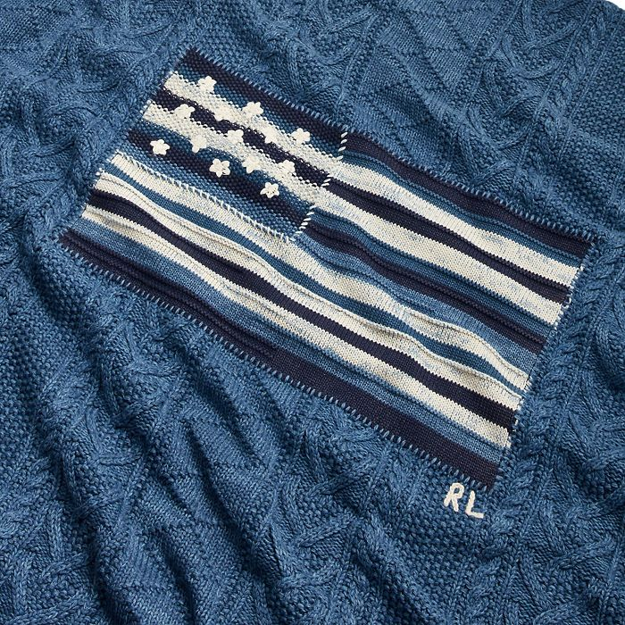 "Ralph Lauren - RL Flag Throw Blanket, 54"" x 72"""