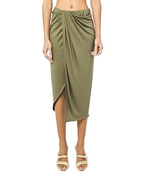 Helmut Lang - Ruched Draped Skirt
