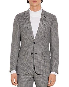 Sandro - Jupiter Flannel Houndstooth Suit Jacket