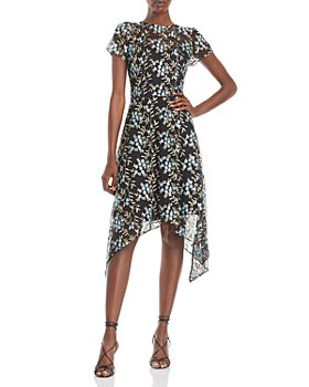 Adrianna Papell - Embroidered Asymmetrical Dress