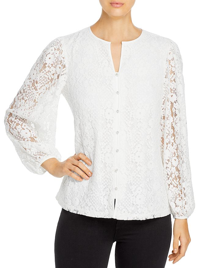 Karl Lagerfeld LACE BALLOON SLEEVE BLOUSE