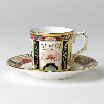 "Royal Crown Derby - ""Chelsea Garden"" Coffee Saucer"
