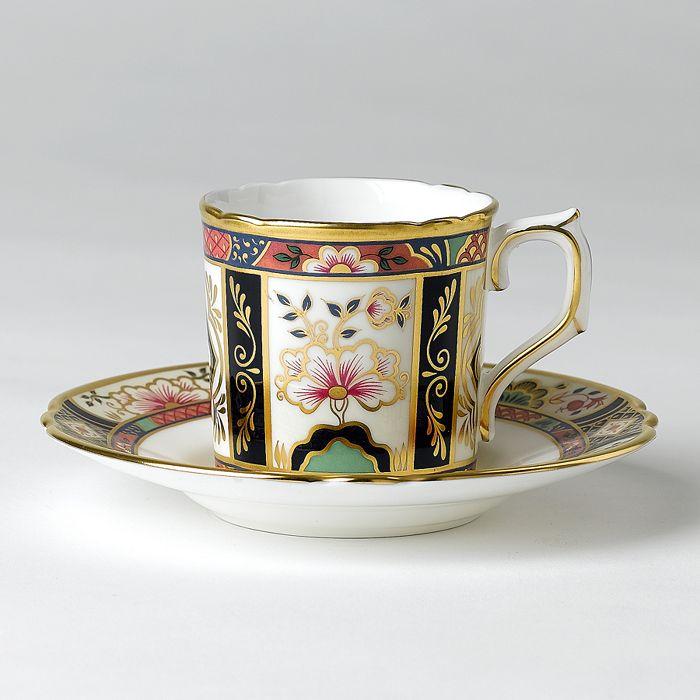 "Royal Crown Derby - ""Chelsea Garden"" Coffee Saucer"