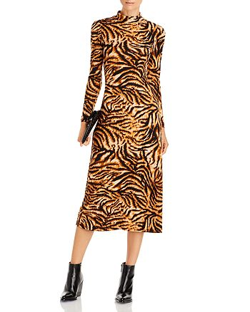 AQUA - Open Back Puff Sleeve Dress - 100% Exclusive