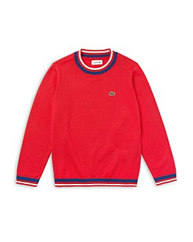 Lacoste - Boys' Cotton Blend Crewneck Sweater - Little Kid, Big Kid