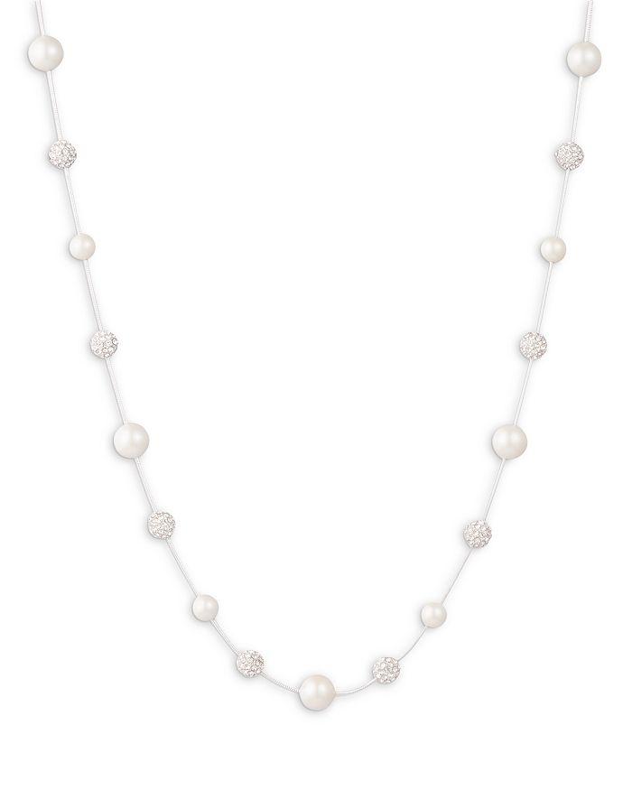 "Ralph Lauren - Pavé Fireball & Imitation Pearl Collar Necklace, 17""-20"""