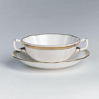 "Royal Crown Derby - ""Carlton Gold"" Cream Soup Cup"