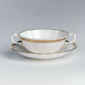 Royal Crown Derby Carlton Gold Cream Soup Cup