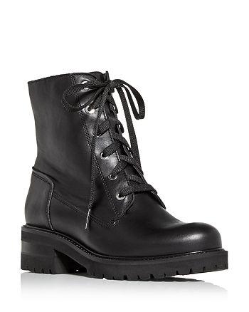 La Canadienne - Women's Camille Waterproof Block Heel Combat Boots