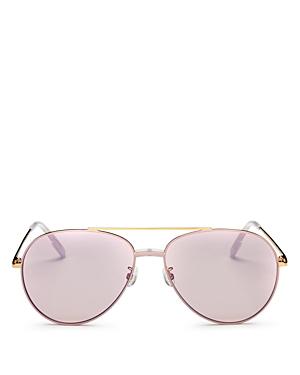 Kenzo Women\\\'s Brow Bar Aviator Sunglasses, 63mm
