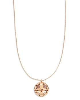 Tory Burch - Miller Logo Bubble Pendant Necklace, 32.75""