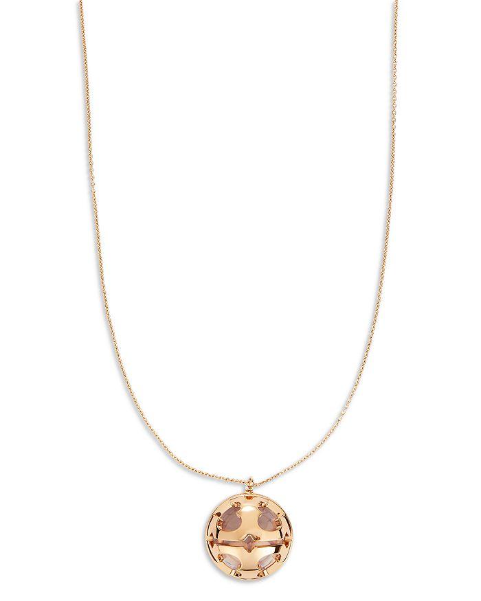 """Tory Burch - Miller Logo Bubble Pendant Necklace, 32.75"""""""