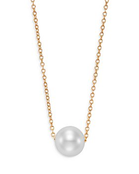 """Bloomingdale's - Cultured Freshwater Pearl Floating Pendant Necklace in 14K Yellow Gold, 16-18"""" - 100% Exclusive"""