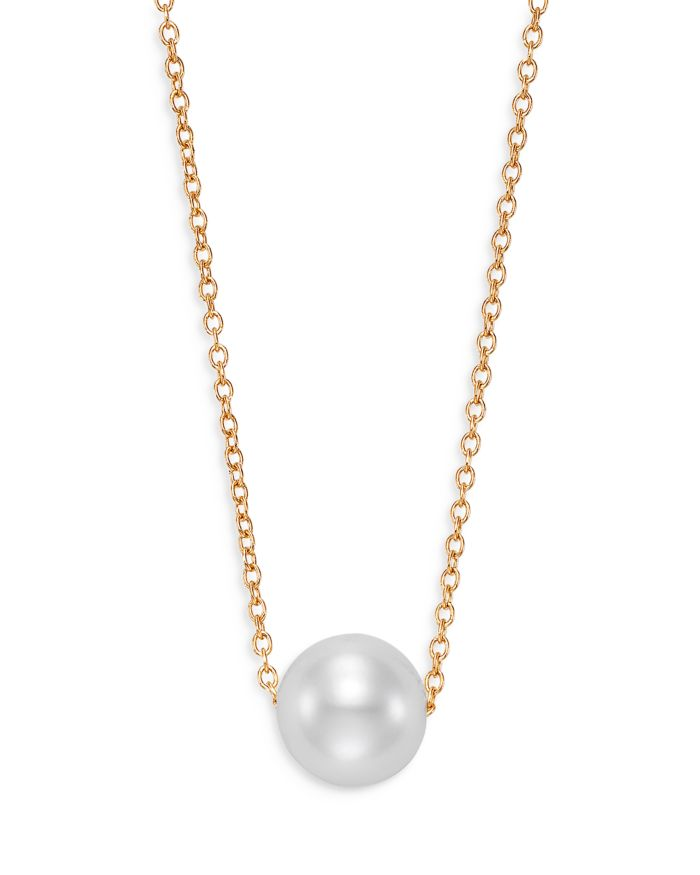 """Bloomingdale's Cultured Freshwater Pearl Floating Pendant Necklace in 14K Yellow Gold, 16-18"""" - 100% Exclusive    Bloomingdale's"""